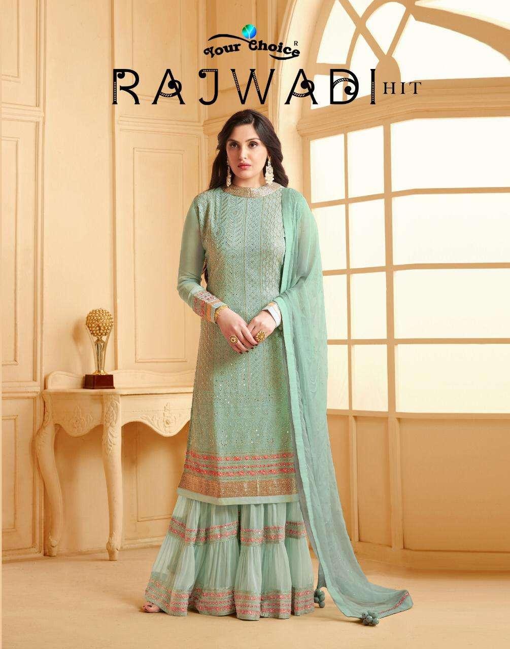 Your Choice Rajwadi Hits Georgette Lakhnawi Sharara Suits