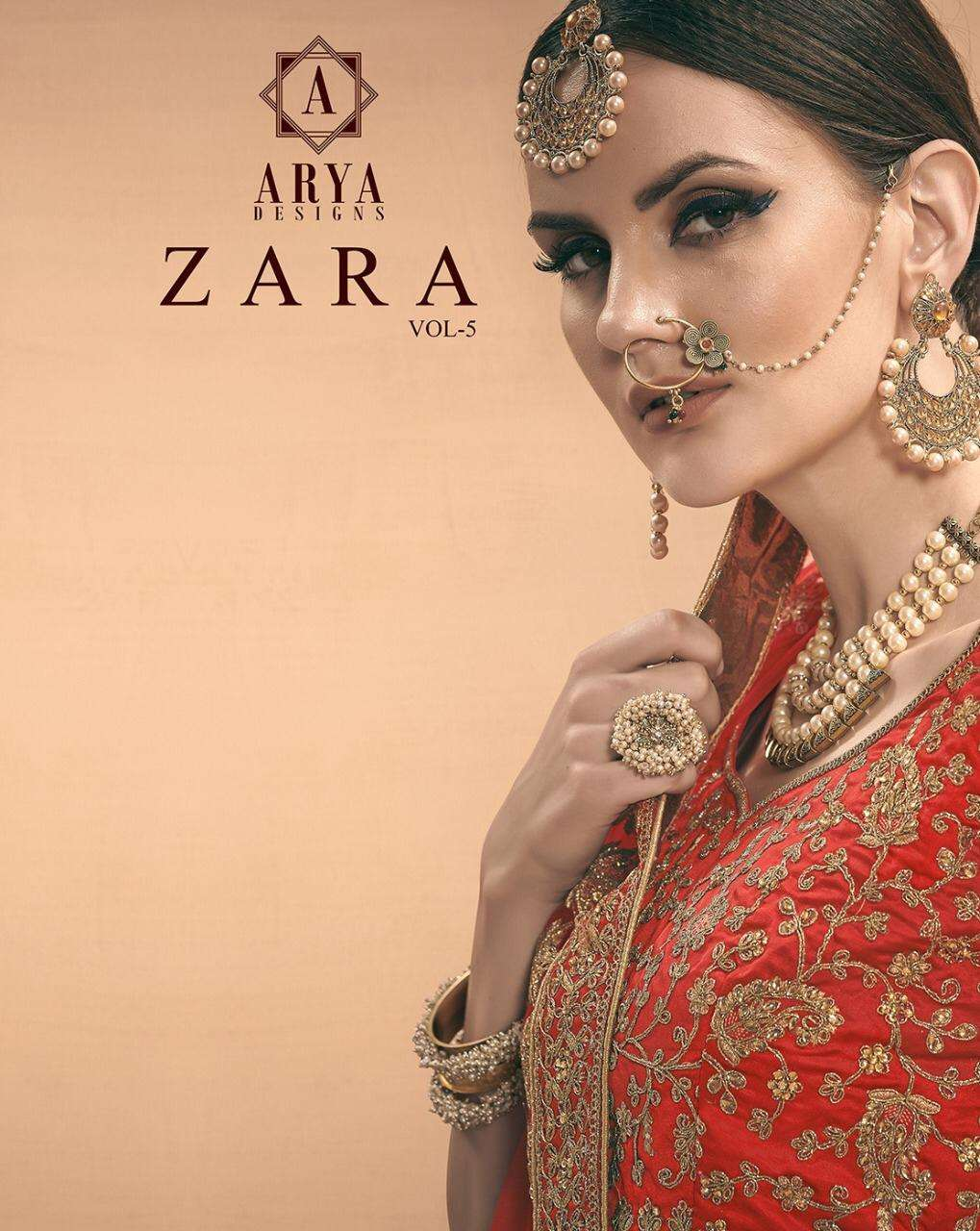 Zara Vol 5 By Arya Satin Embroidery Designer Lehenga
