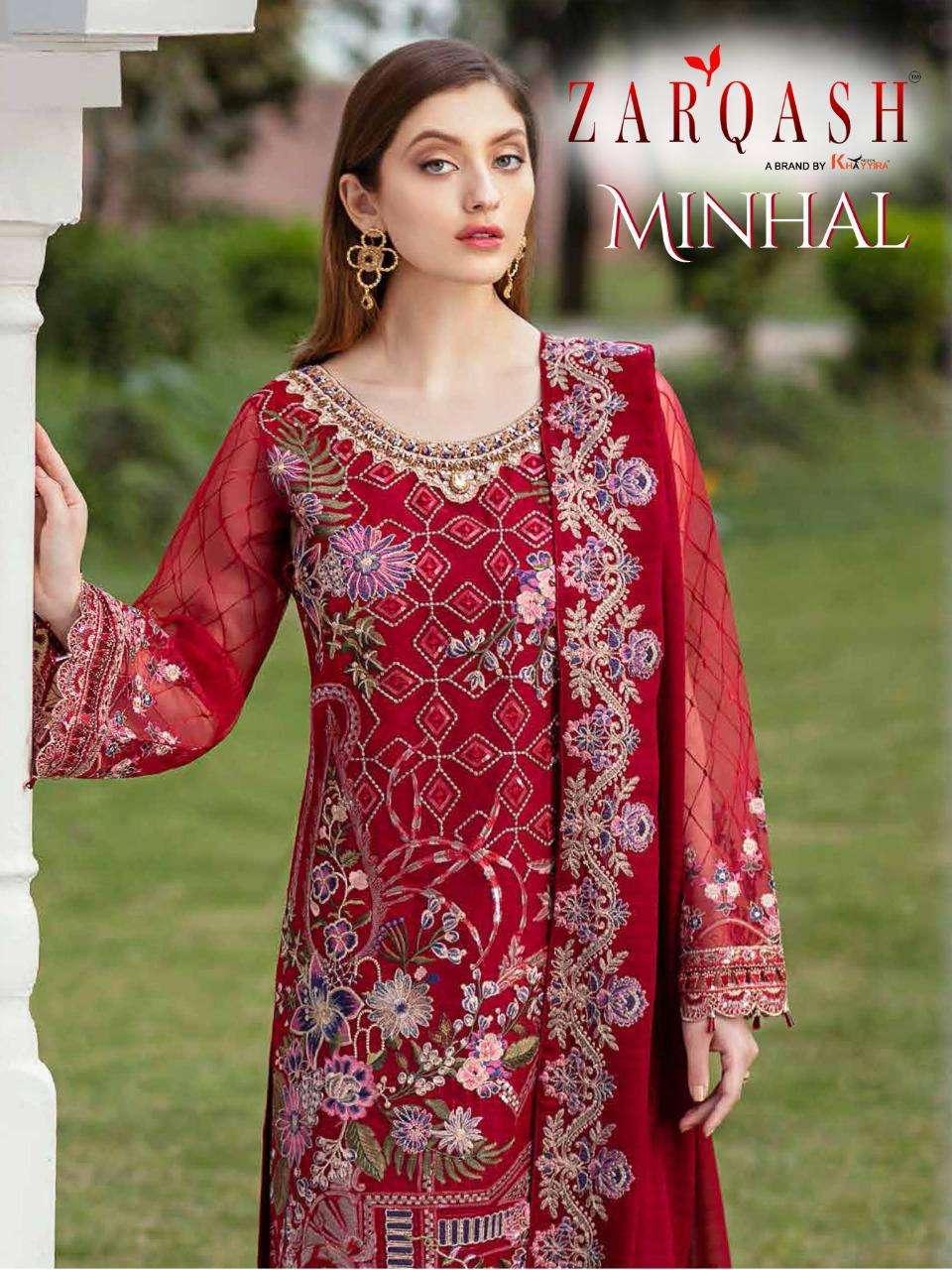 Zarqash Minhal Georgette Pakistani Fancy Dresses