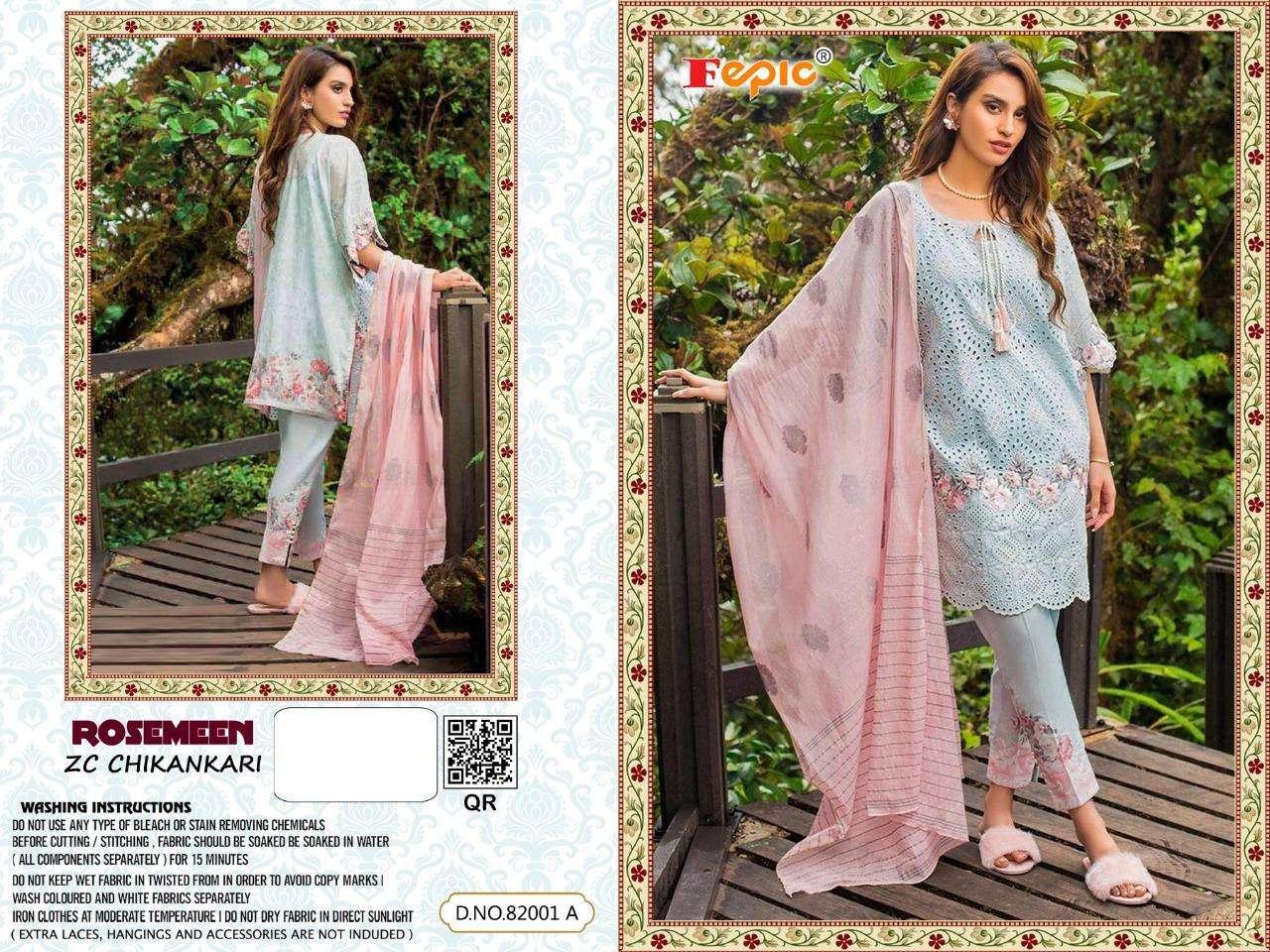 Zc Chikankari 82001 By Fepic Lawn Cotton Dresses Online