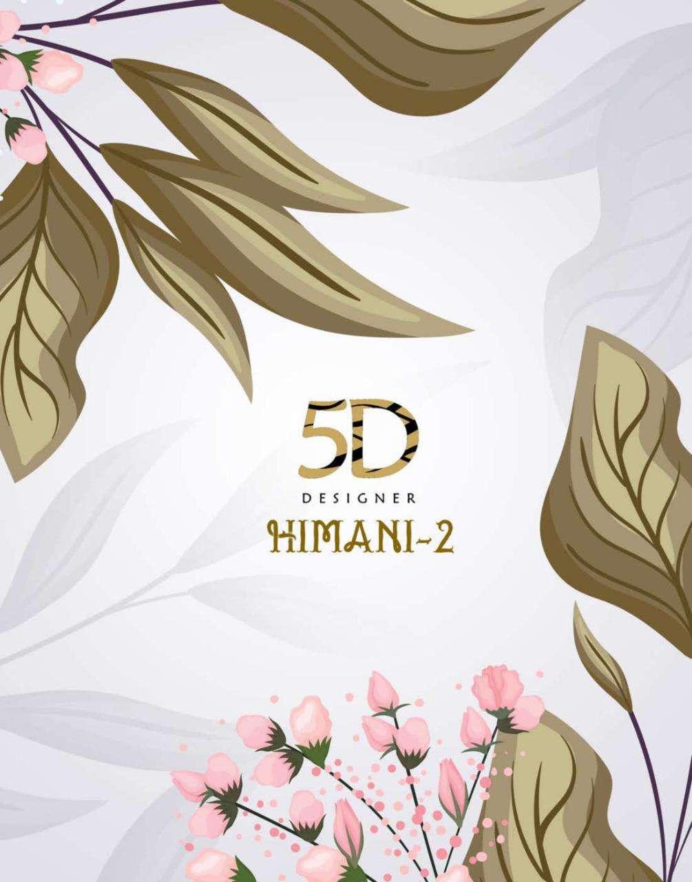 5d Designer Hemani Vol 2 Georgette Printed Sarees