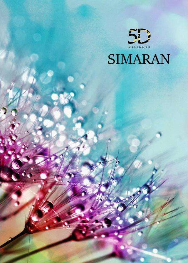 5d Simaran Black Chiffon Printed Sarees