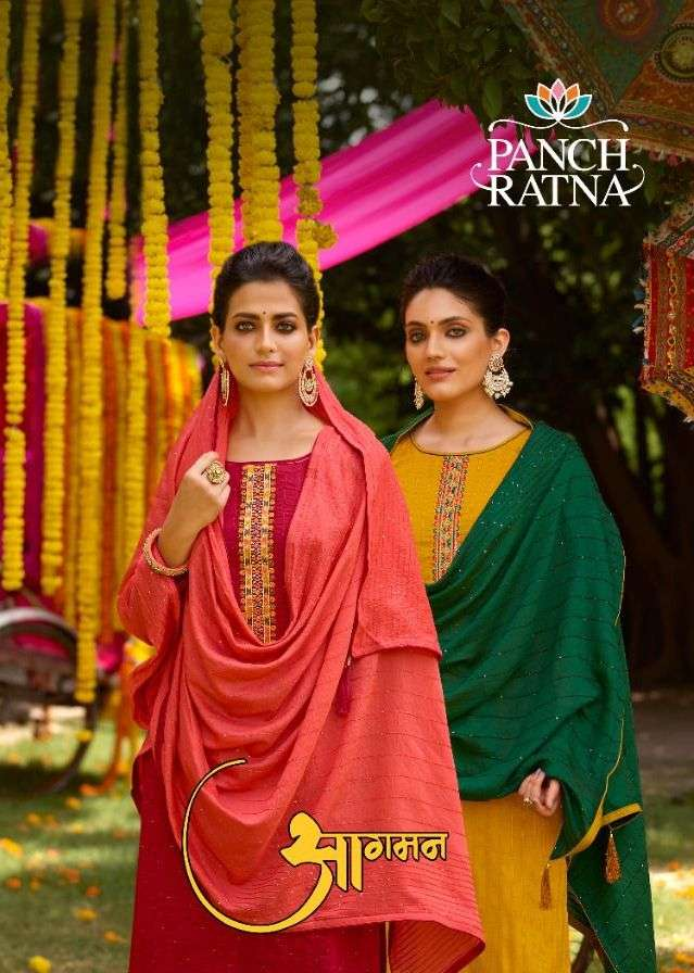 Aagaman By Panch Ratna Silky Fancy Suits Supplier