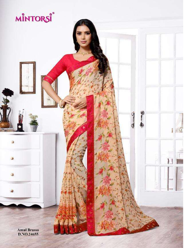 Amol Brasso By Mintorsi Classy Fancy Printed Sarees