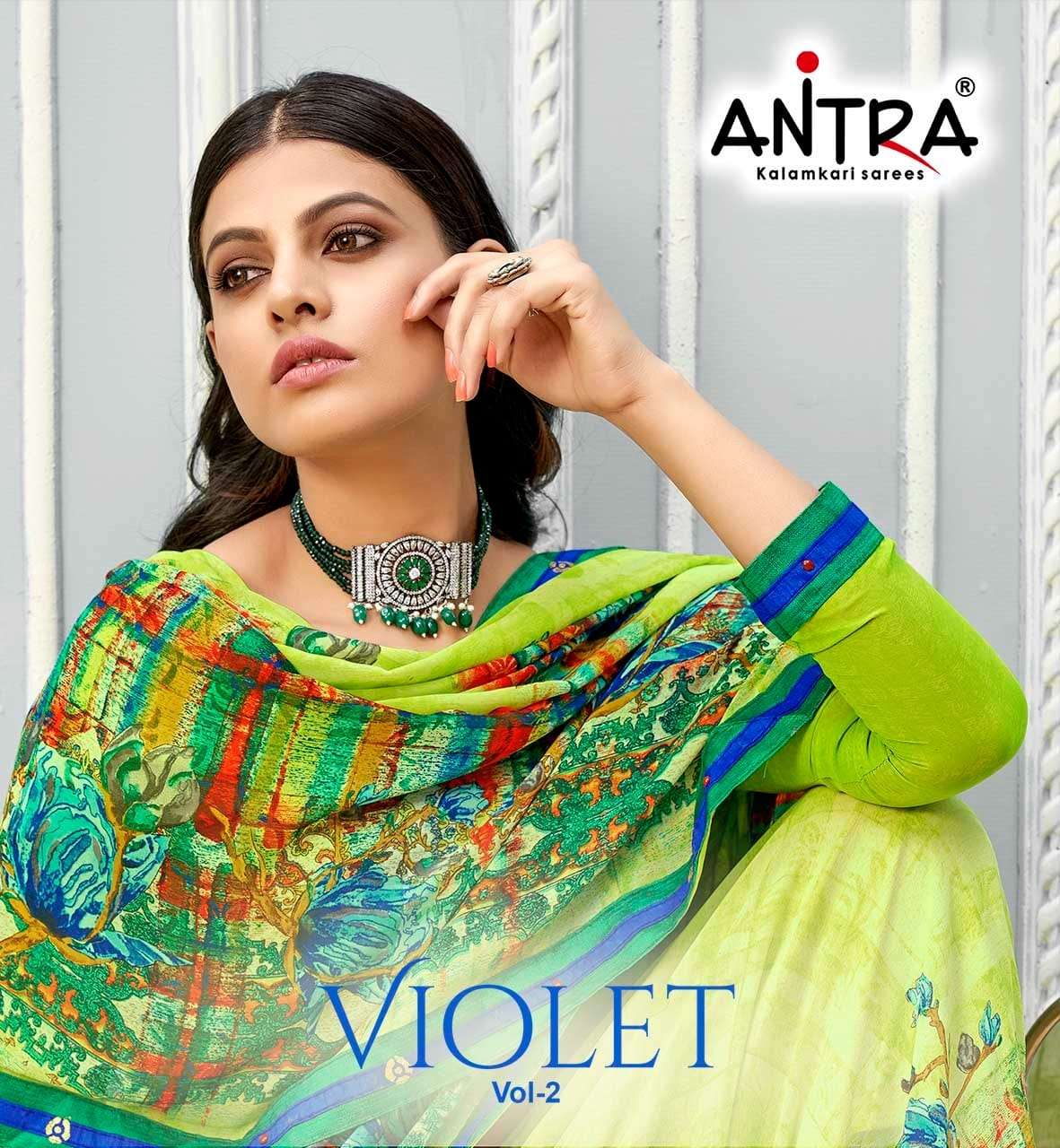 Antra Violet Vol 2 Weightless Printed Casual Wear Saree