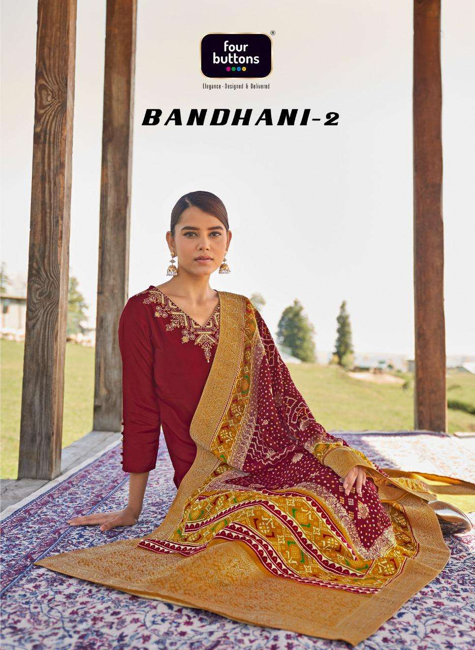Bandhani Vol 2 By Four Buttons Full Stitch Fancy Suits