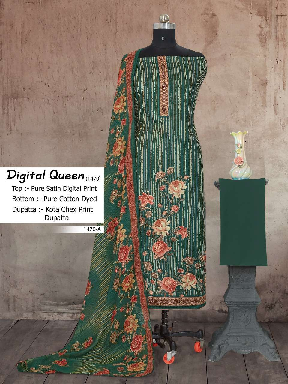 Bipson Digital Queen 1470 Cotton Satin Daily Wear Dresses
