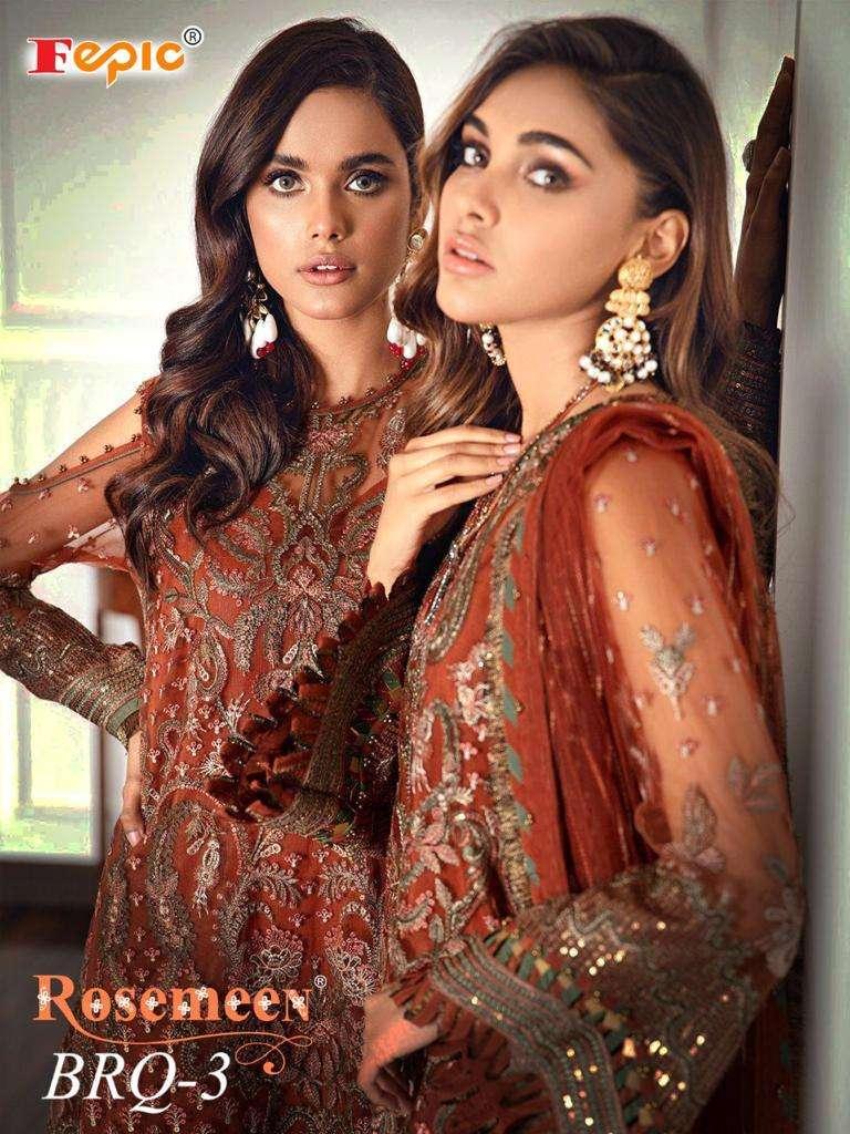 Brq Vol 3 By Fepic Georgette Pakistani Wedding Suits