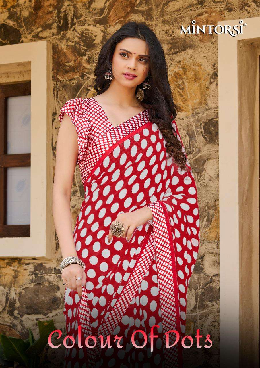 Colour Of Dots By Mintorsi Weightless Printed Saree