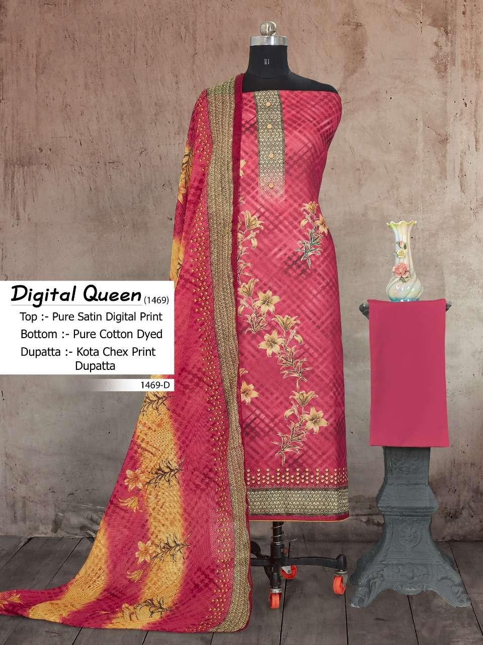 Digital Queen 1469 By Bipson Cotton Satin Fancy Dress Materials