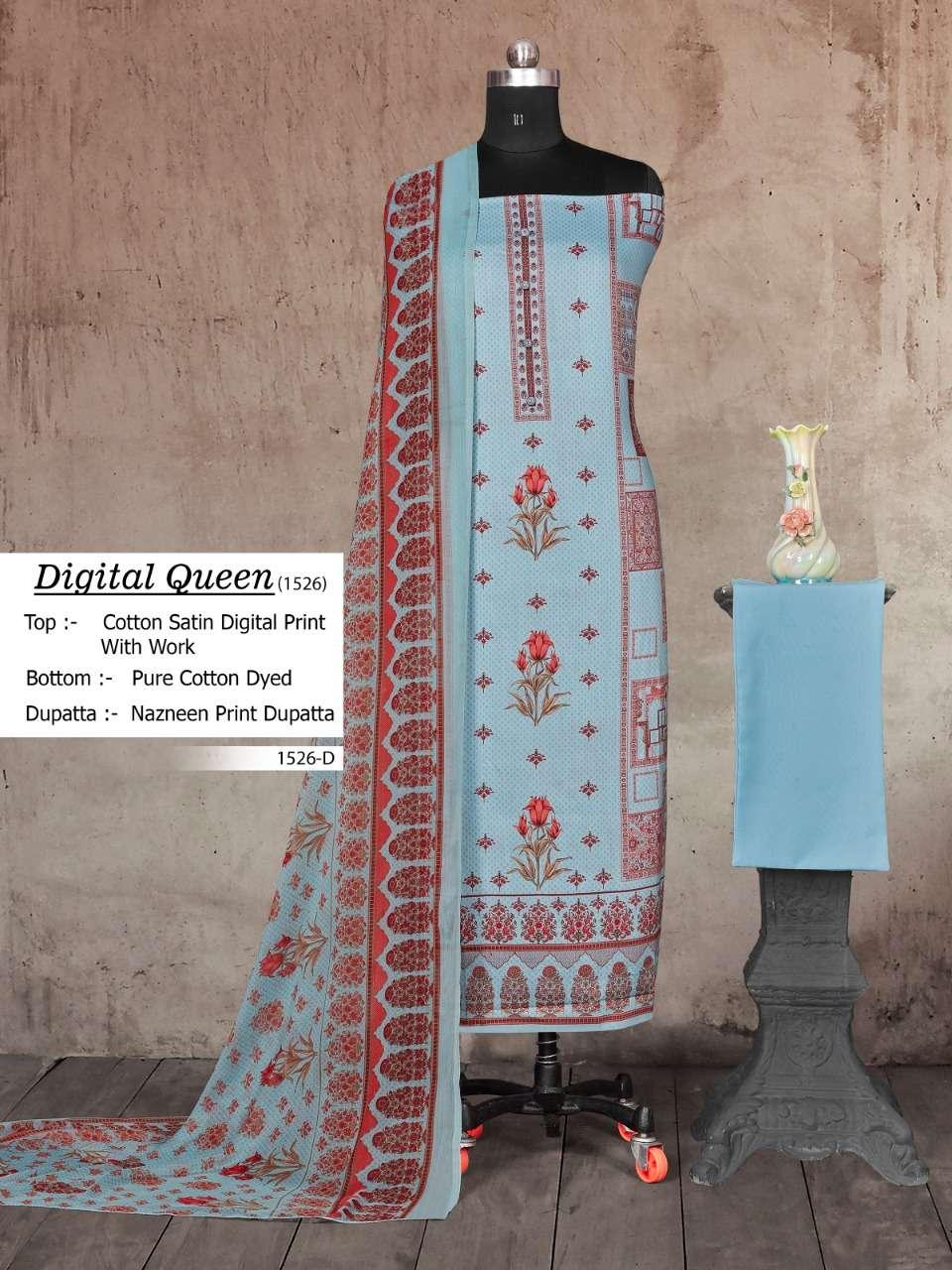 Digital Queen 1526 By Bipson Cotton Satin Fancy Dresses
