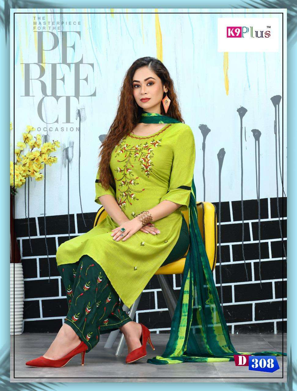Fashion Of Plazo By K9plus Heavy Rayon Readymade Suit Catlog Colletion