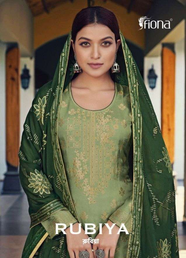 Fiona Rubiya Pure Dola Jacquard Classy Elegant Suits