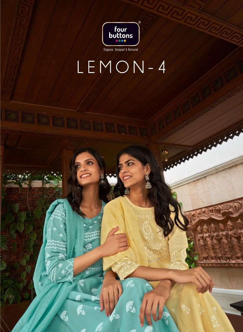 Four Buttons Lemon Vol 4 Readymade Fancy Suits