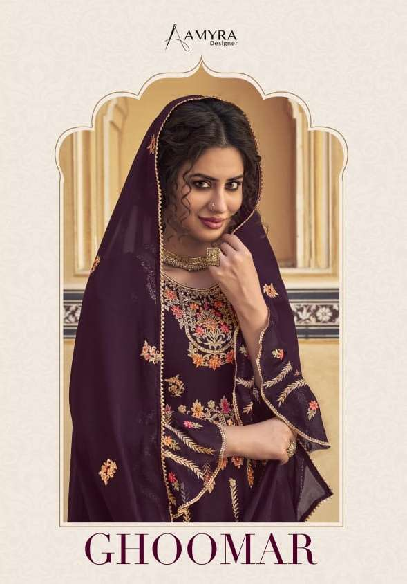 Ghoomar By Amyra Georgette Readymade Garara Suits