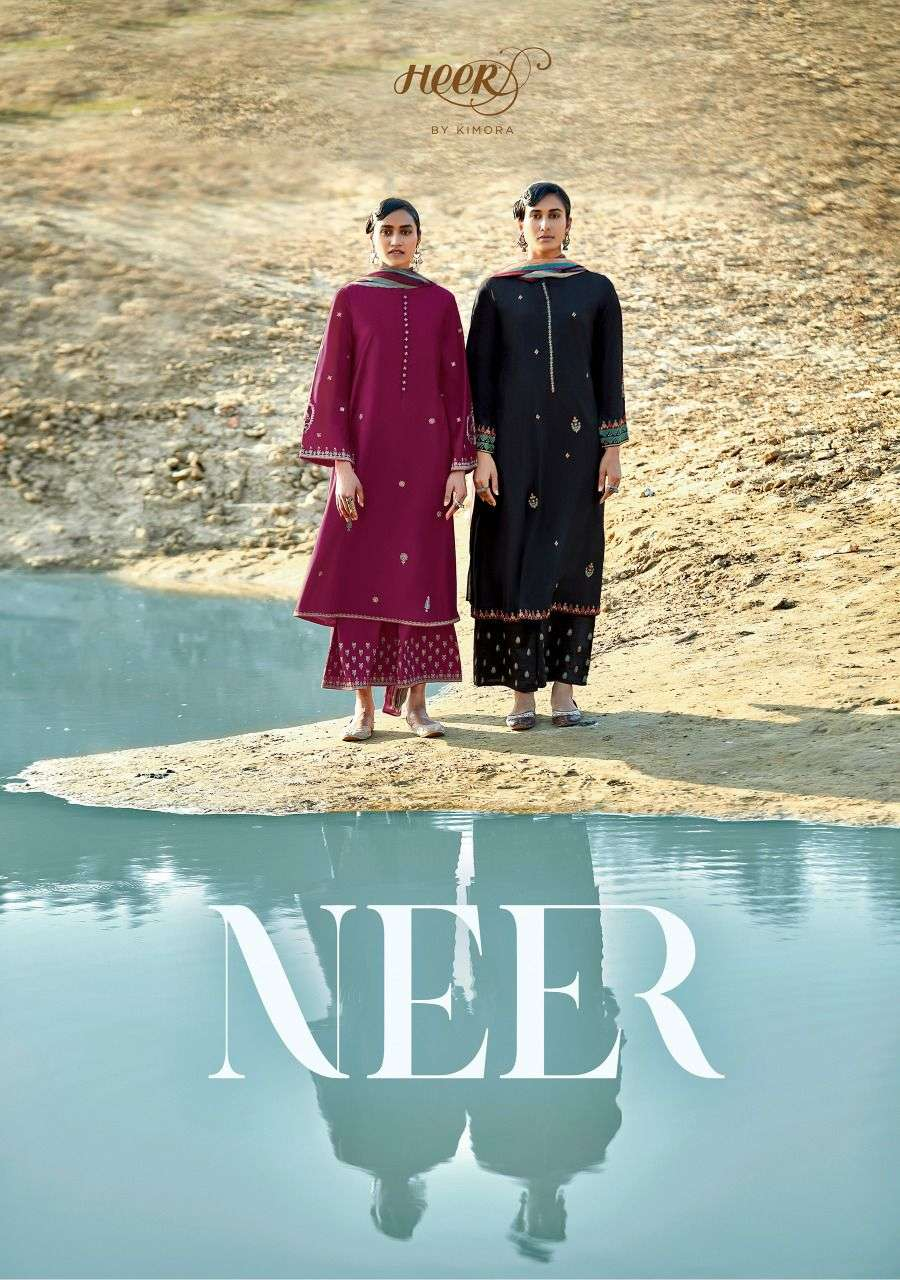 Heer 93 By Kimora Neer Cotton Silky Fancy Suits