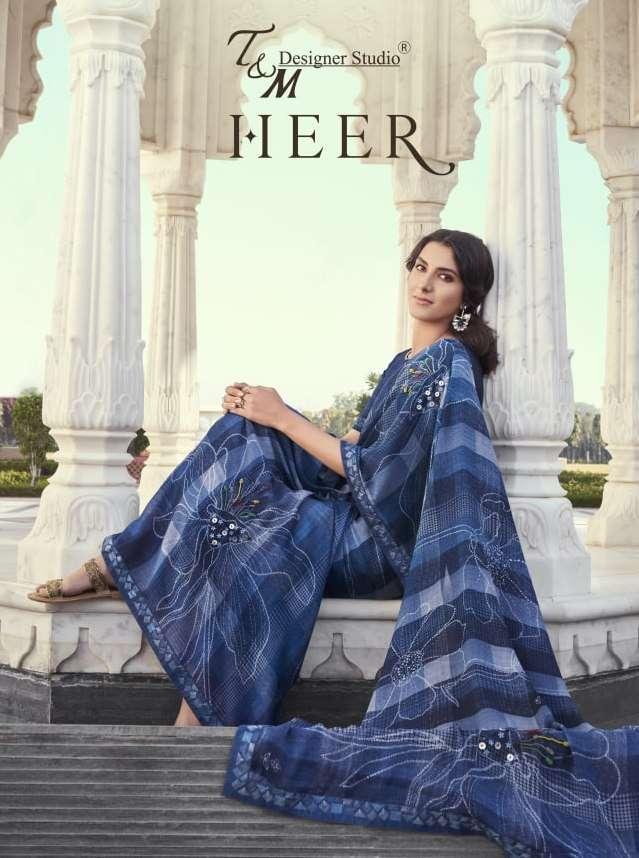 Heer By T & M Designer Wholesale Saree Exporter