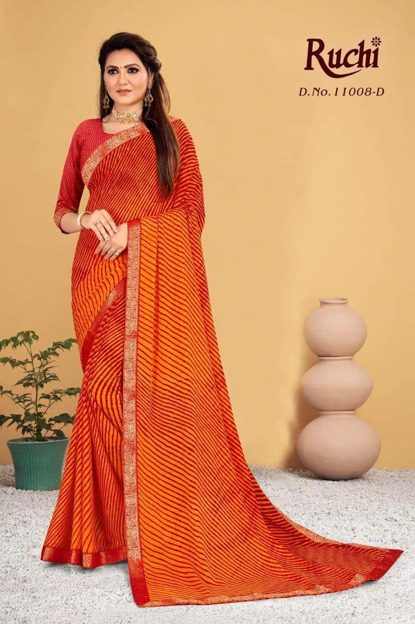 Jhanvi Vol 4 By Ruchi Printed Chiffon Fancy Saree