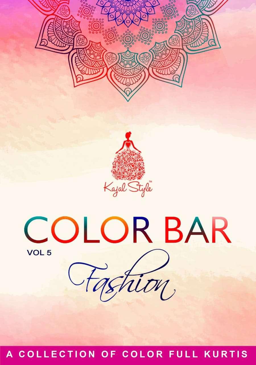 Kajal Fashion Color Bar Vol 5 Rayon Party Wear Long Gown