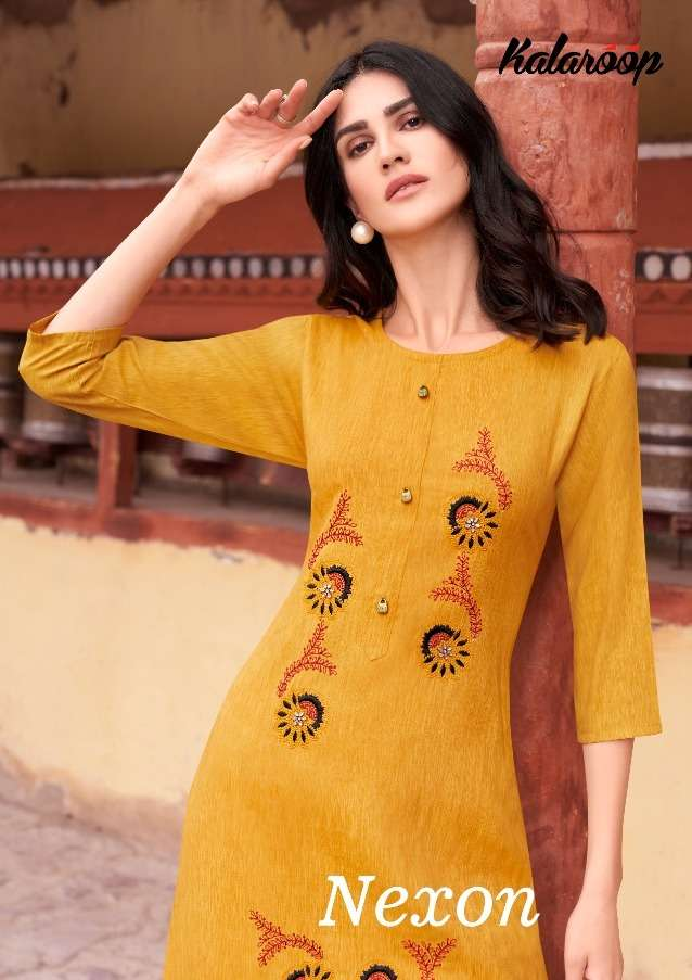Kalaroop Nexon Rayon Work Casual Wear Kurtis