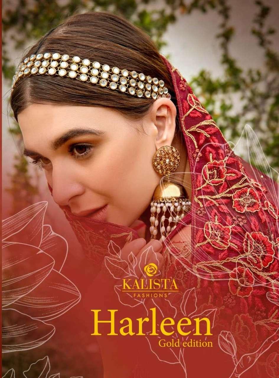 Kalista Harleen Gold Exclusive Fancy Sarees