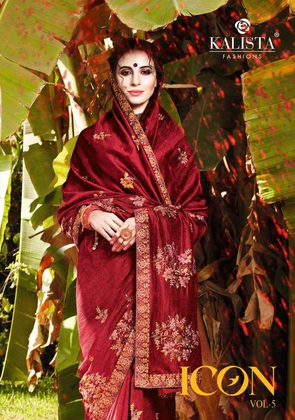 Kalista Icon Vol 5 Vichitra Silk Stone Work Sarees
