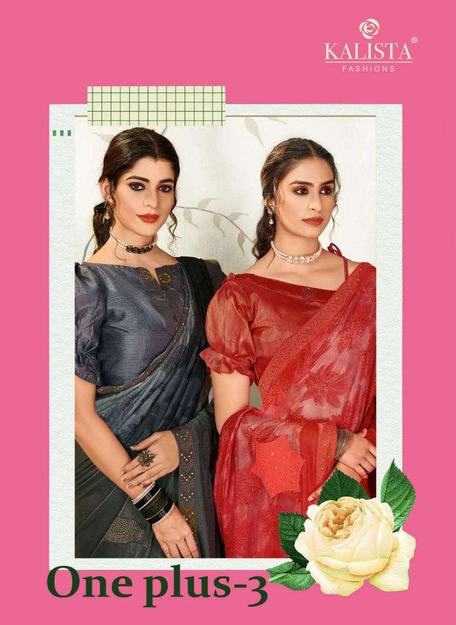 Kalista One Plus Vol 3 Printed Designer Saree