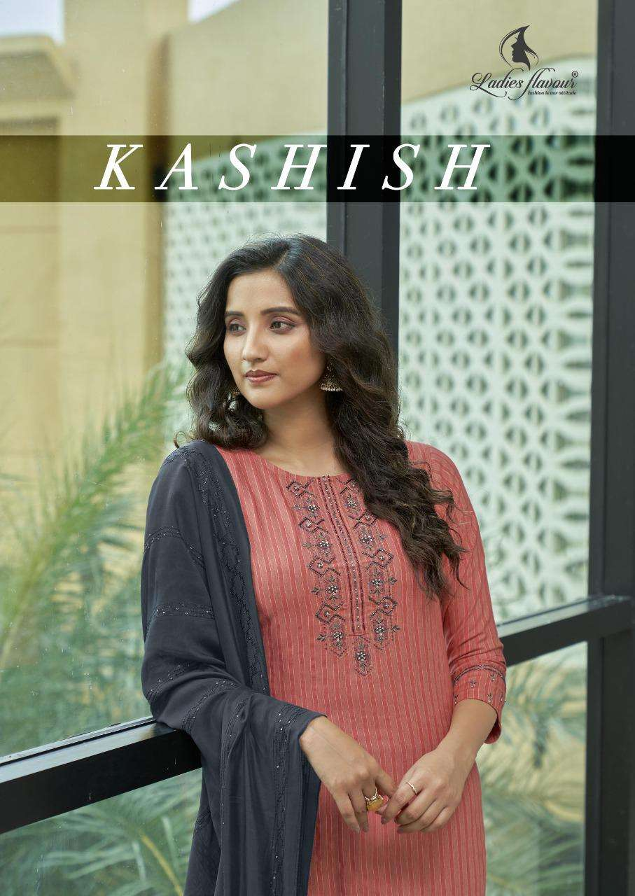 Kashish By Ladies Flavour Readymade Rayon Fancy Suits