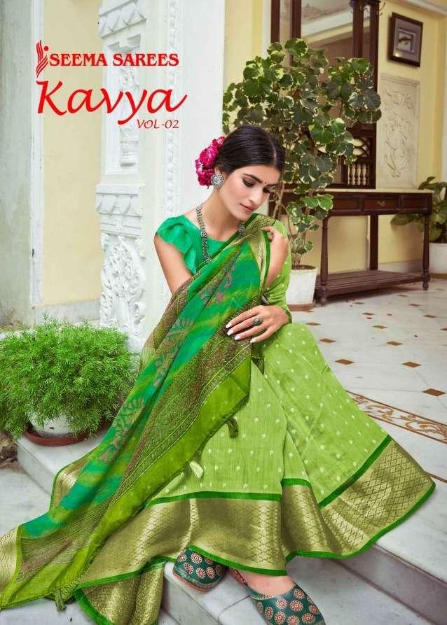 Kavya Vol 2 By Seema Linen Fancy Saree Wholesaler