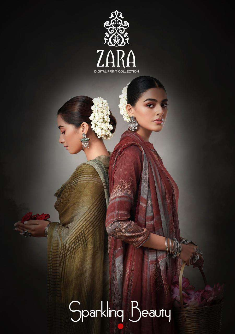 Kesar Karachi Zara Jam Silk Classy Fancy Suits