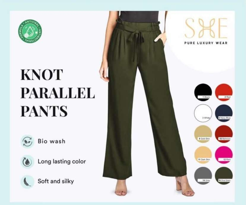 Knot Parallel Pants By She  Wholesale Bottom Wear Supplier