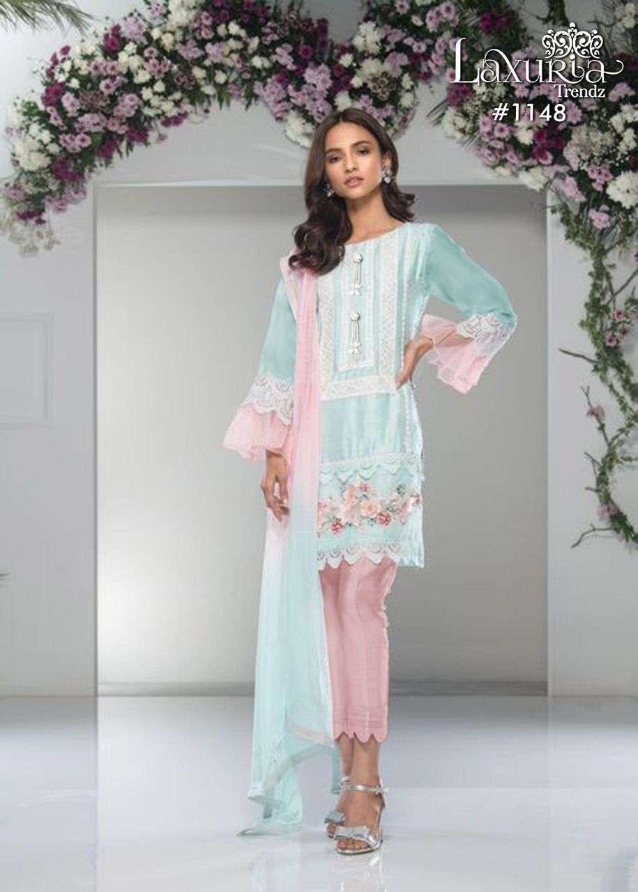 Laxuria 1148 Georgette Readymade Pakistani Tunic Style Suits Wholesaler