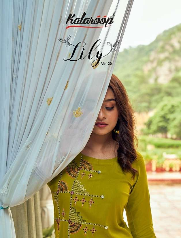 Lily Vol 20 By Kalaroop Rayon Daily Wear Ladies Kurtis