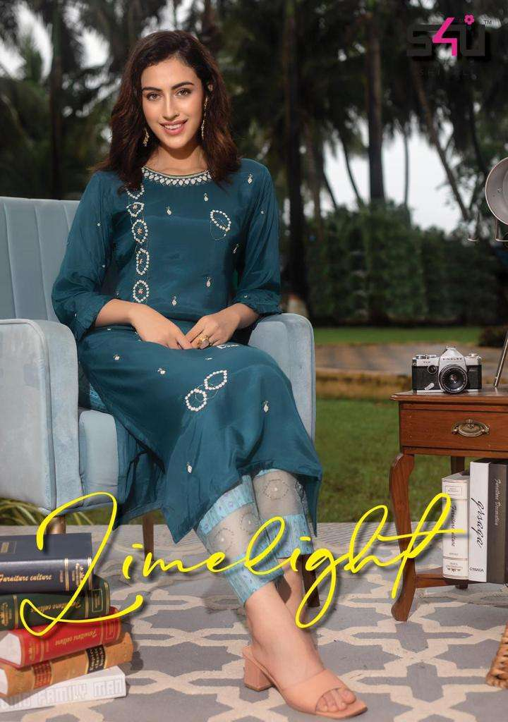 Limelight Vol 5 By S4u Party Wear Kurti With Pant Set