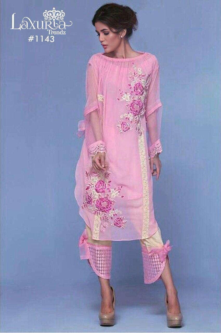 Luxuria 1143 Exclusive Georgette Pakistani Kurti With Pant