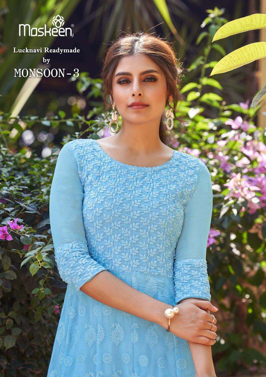 Maskeen Monsoon Vol 3 Georgette Classy Kurti With Pant Supplier