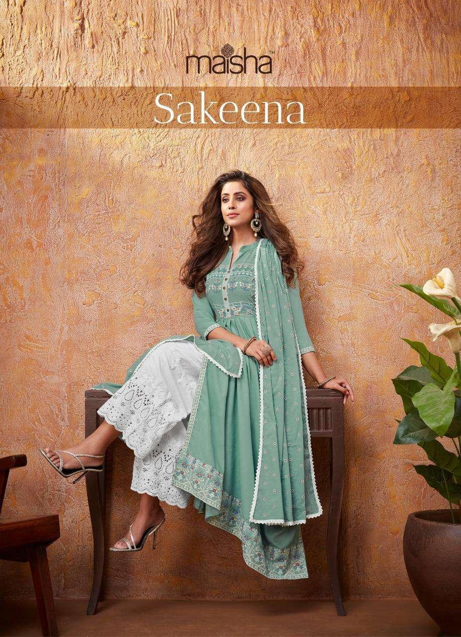 Maskeenji Sakina Readymade Designer Rayon Fancy Suits
