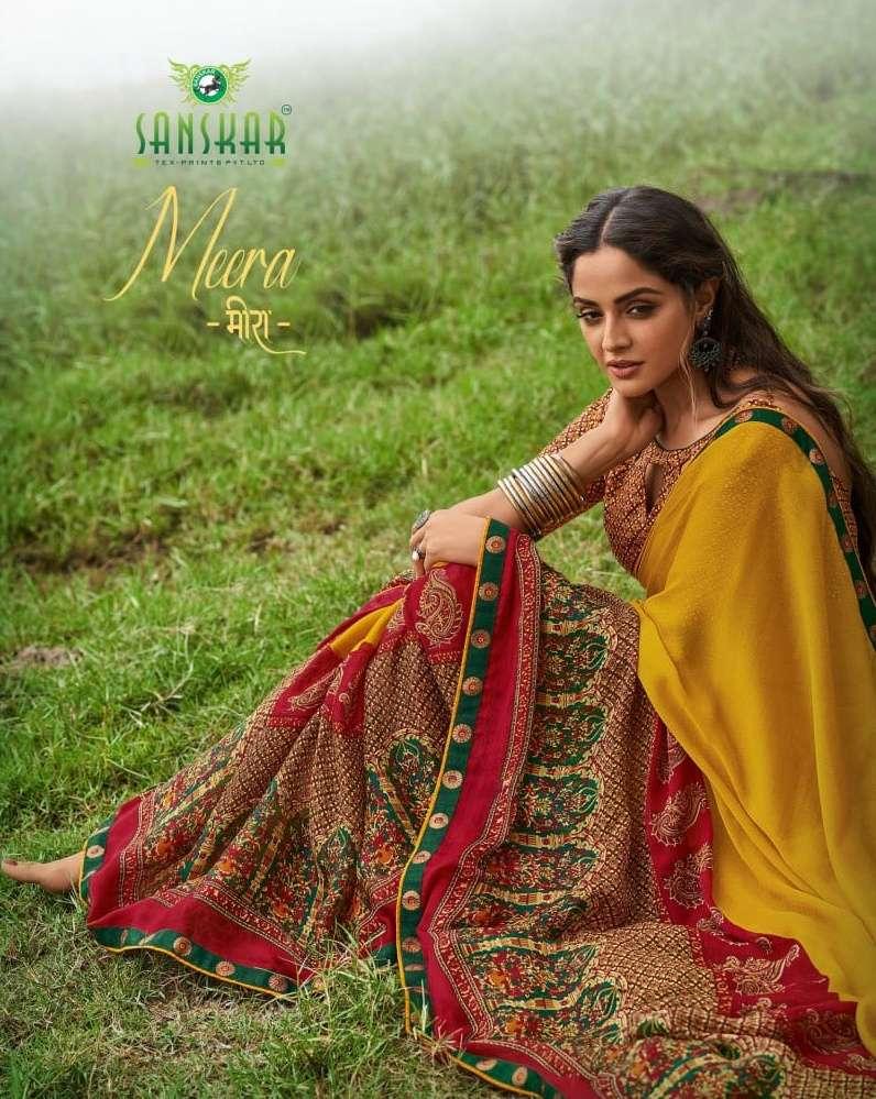 Meera By Sanskar Print Soft Printed Saris Exports