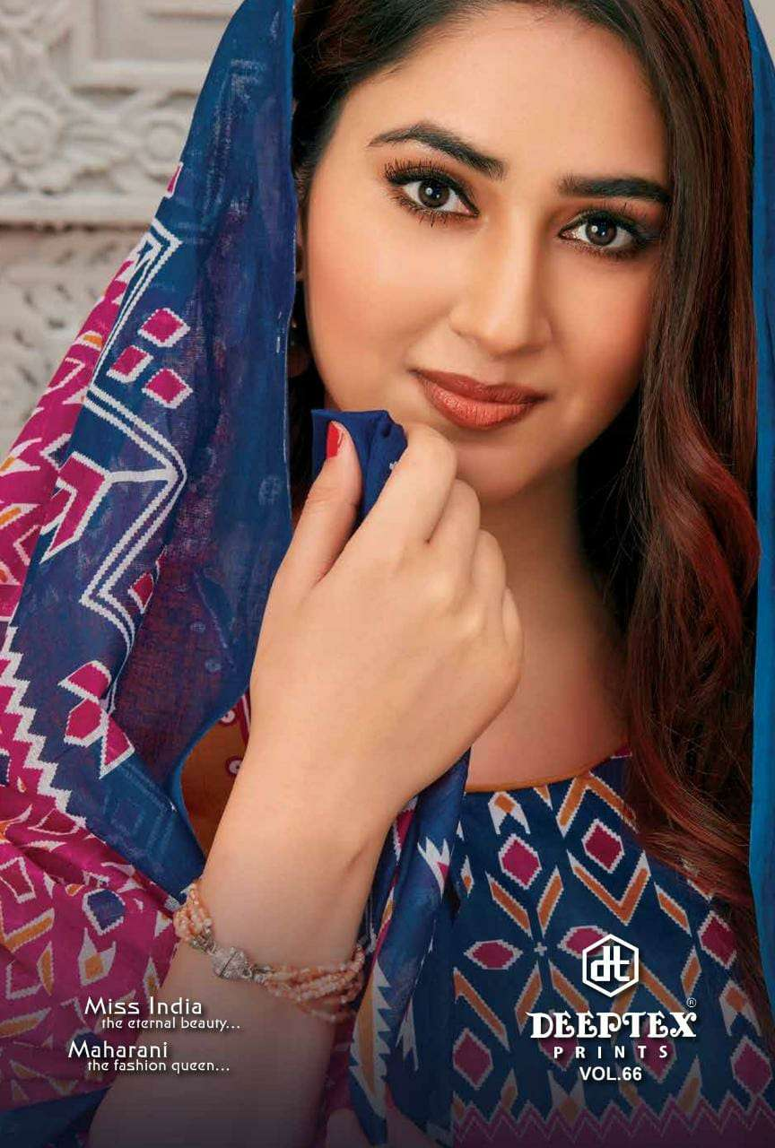 Miss India Vol 66 By Deeptex Prints Cotton Suits Exports