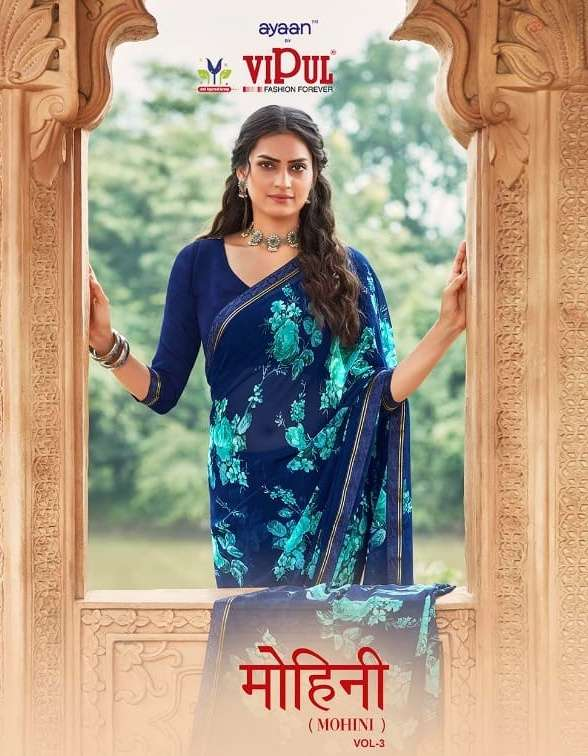 Mohini Vol 3 By Vipul Fashion Georgette Soft Saris Exporter