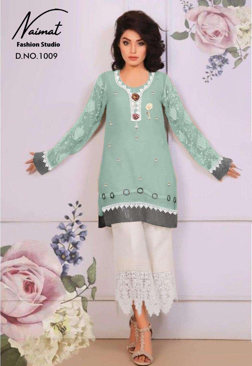 Naimat Nfs Vol 1009 Pakistani Readymade Kurti With Pant