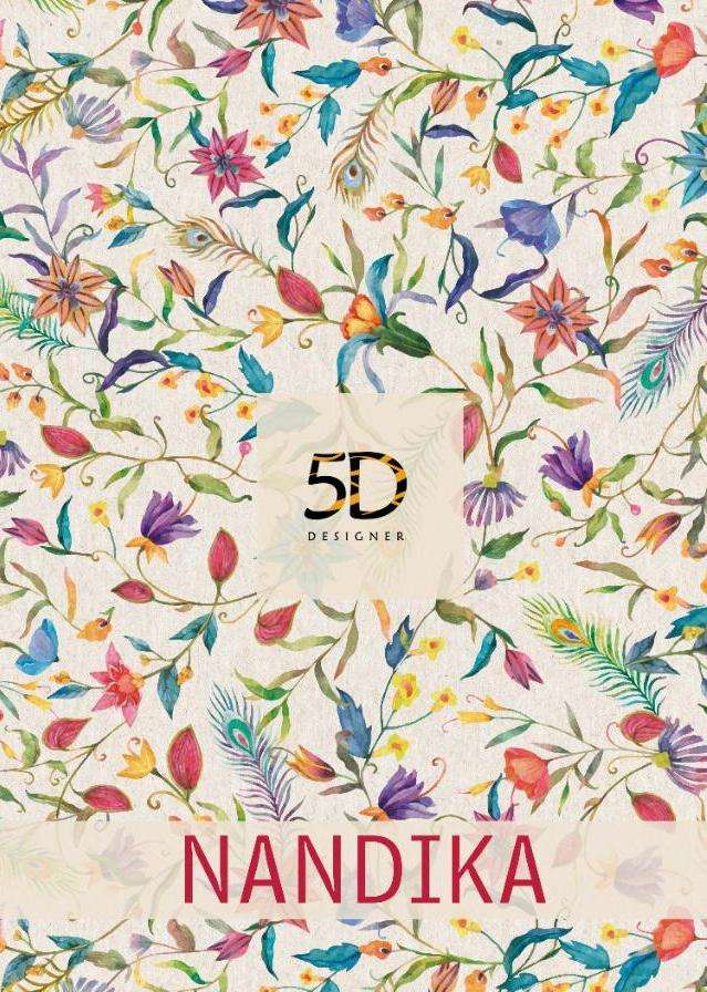 Nandika By 5d Georgette Printed Fancy Saree