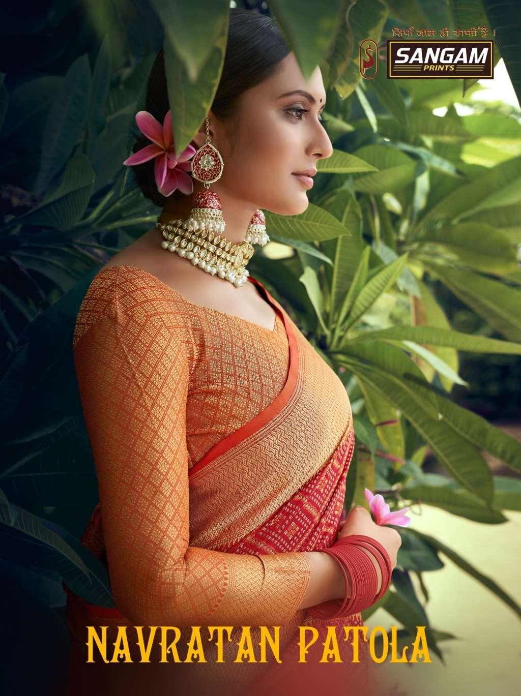 Navratan Patola By Sangam Designer Patola Silk Sari Supplier