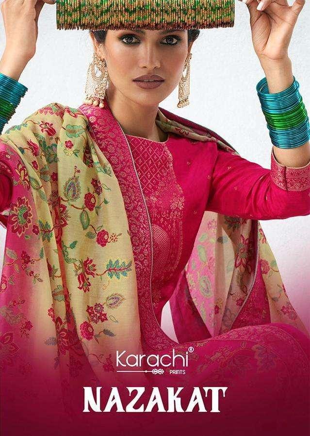 Nazakat By Karachi Prints Kesar Suits Wholesaler In Surat