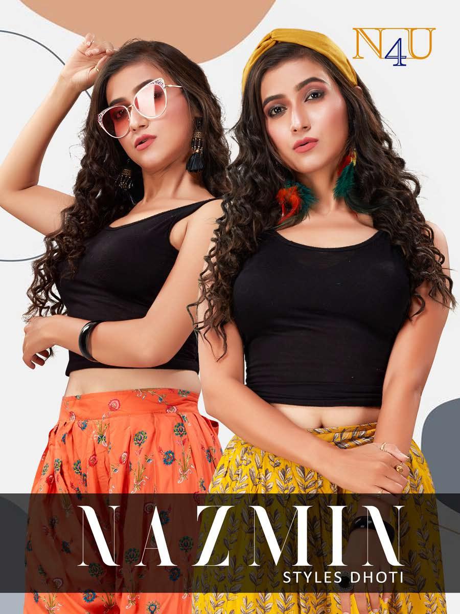 Nazmin By N4u Rayon Printed Stylish Dhoti Pant Online Supplier
