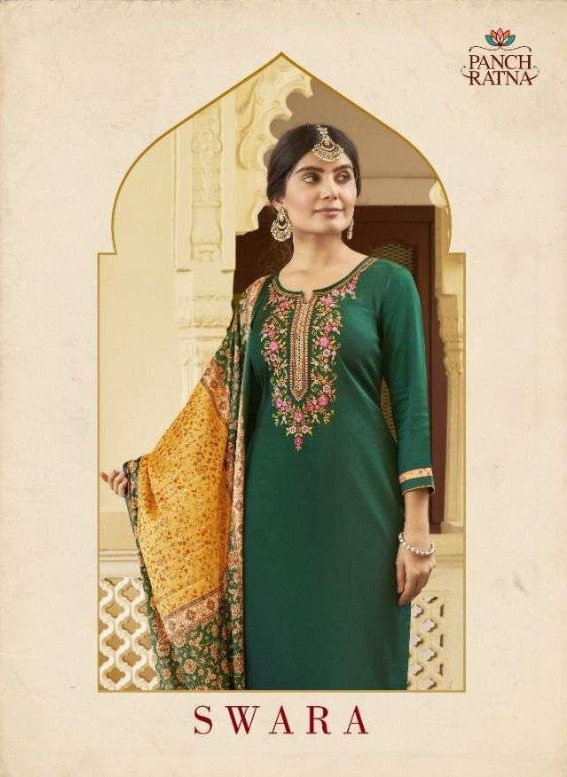 Panch Ratna Swara Cotton Satin Casual Wear Suits