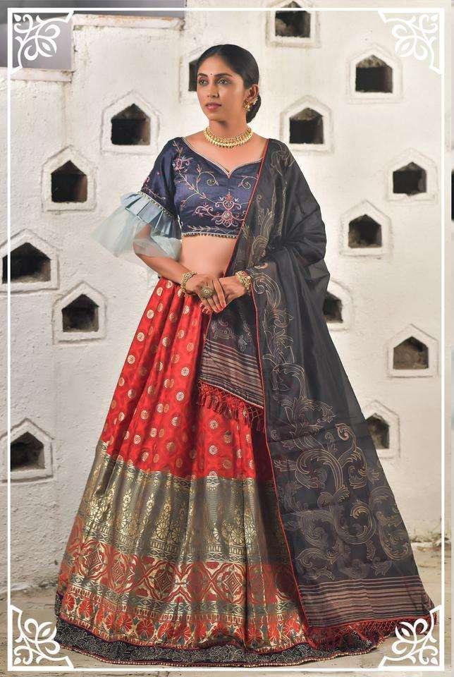 Peafowl Vol 79 Wedding Banarasi Silk Lehenga
