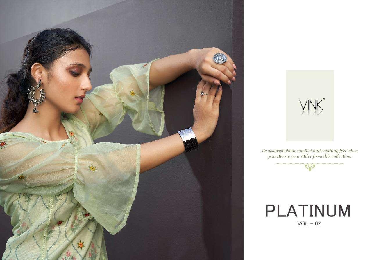 Platinum Vol 2 By Vink Organza Kurta With Pant