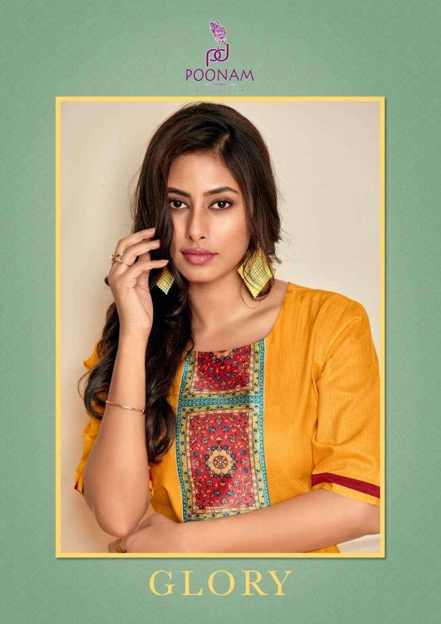 Poonam Glory Slub Silk Plus Sizes Ladies Kurti