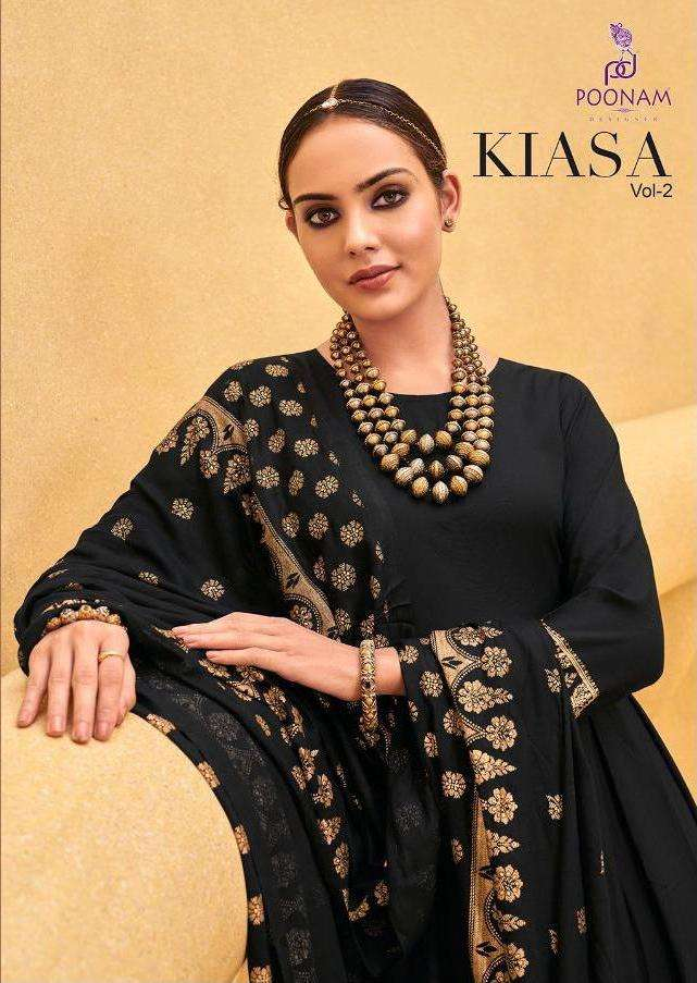 Poonam Kiasa Vol 2 Rayon Gown With Dupatta